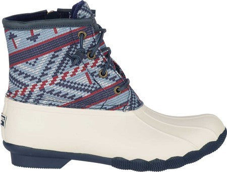 Women's Sperry Top-Sider Saltwater Duck Boot - Multi Fair Isle Leather