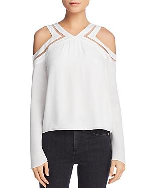 Ramy Brook Lex Cold-Shoulder Silk Top