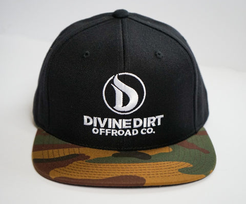 Camo Bill/ Black Snap Back