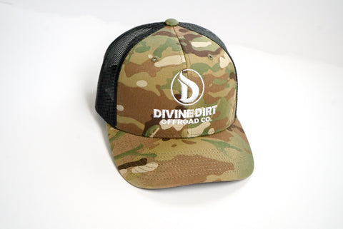 Light Camo Curved Bill Trucker Hat