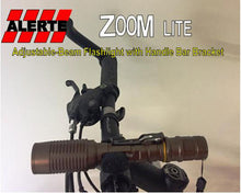 Alerte Zoom Flashlight with Bicycle Handlebar Mount
