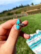 Load image into Gallery viewer, White Water Turquoise Ring