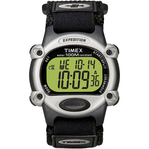 Timex Expedition Mens Chrono Alarm Timer Silver/Black [T48061]