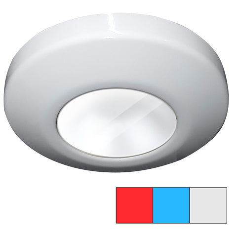 i2Systems Profile P1120 Tri-Light Surface Light - Red, Cool White  Blue - White Finish [P1120Z-31HAE]