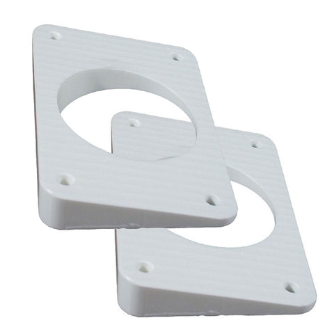 TACO Wedge Plates f/Grand Slam Outriggers - White [WP-150WHA-1]