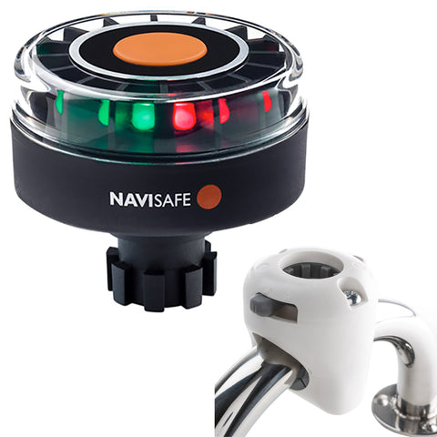 Navisafe Navilight Tricolor 2NM w/Navibolt Base  Rail Mount - White [342KIT3]