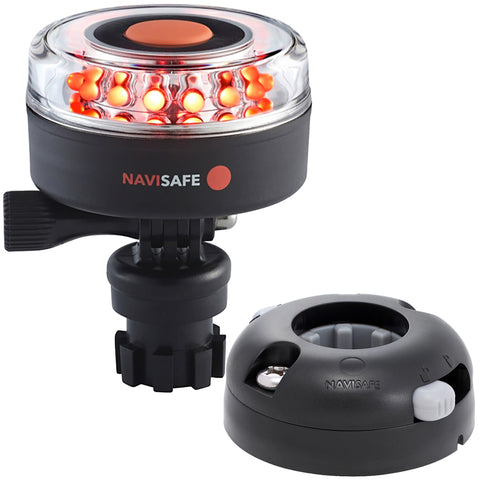 Navisafe Navilight All RED 360 2NM w/Navimount Base  Horizontal Mount - Black [045KIT7]