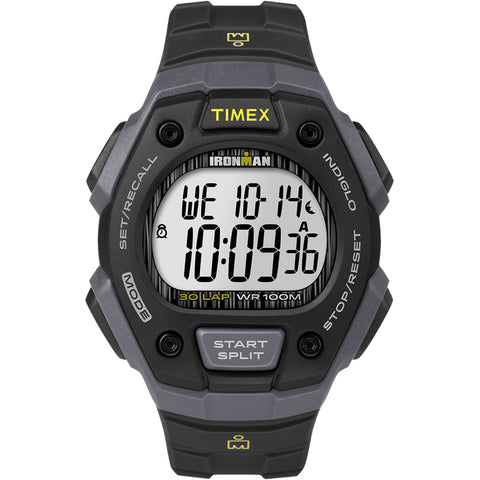 Timex IRONMAN Classic 30 Lap Full-Size Watch - Black/Yellow [TW5M09500JV]