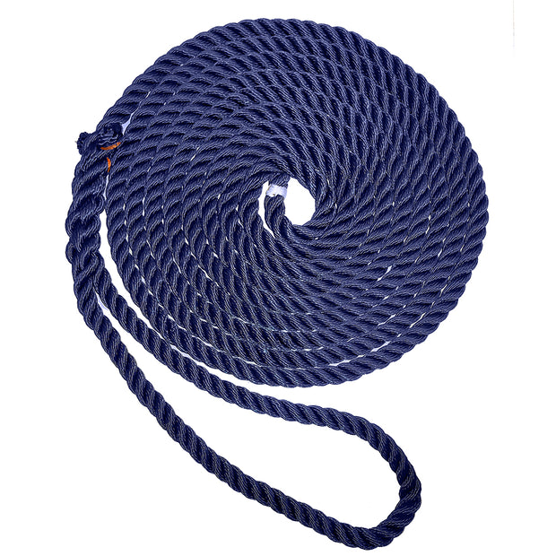 "New England Ropes 5/8"" X 35 Premium Nylon 3 Strand Dock Line - Navy Blue [C6053-20-00035]"