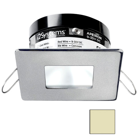 i2Systems Apeiron PRO A503 - 3W Spring Mount Light - Square/Square - Warm White - Brushed Nickel Finish [A503-44CBBR]