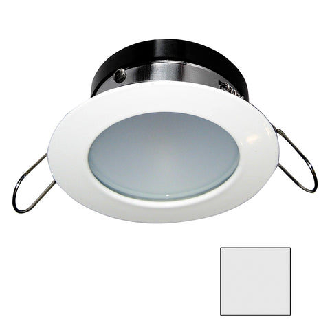 i2Systems Apeiron A1110Z - 4.5W Spring Mount Light - Round - Cool White - White Finish [A1110Z-31AAH]