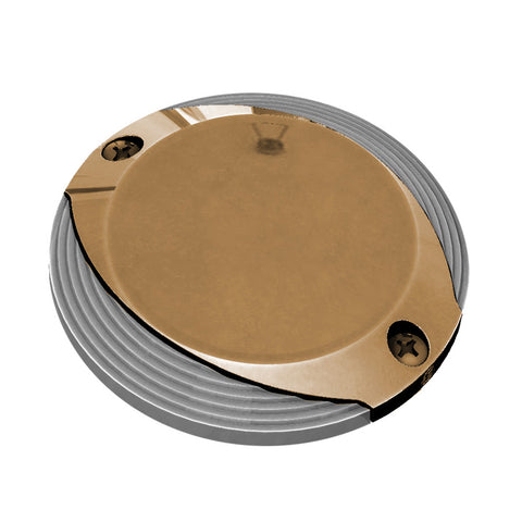 Lumitec Scallop Pathway Light - Warm White - Bronze Housing [101630]
