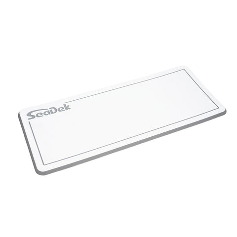 "SeaDek Dual Density Helm Pad - 14"" x 36"" 20mm - Small - White w/Storm Gray Laser SD Logo [37925-80375]"