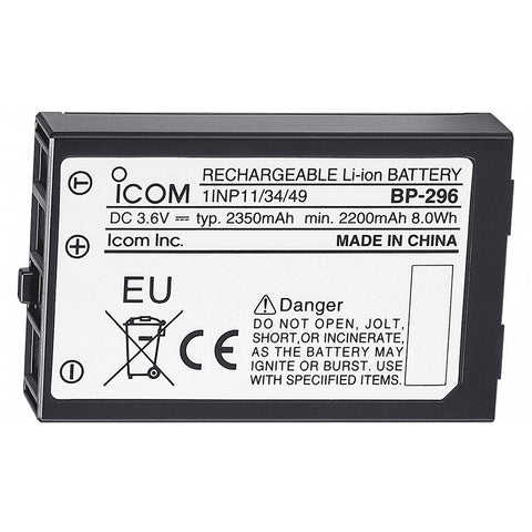 Icom BP-296 Li-Ion Battery - 3.6V - 2350mAh f/M37 [BP296]