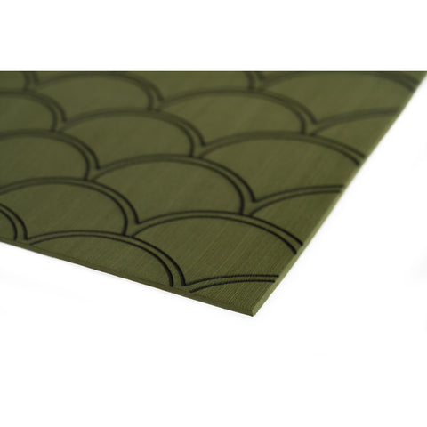 "SeaDek 40"" x 80"" 5mm Sheet Olive Green Brushed Fish Scale - 1016mm x 2032mm x 5mm [23875-83802]"