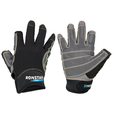 Ronstan Sticky Race Gloves - 3-Finger - Black - XS [CL740XS]