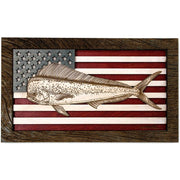 Wall Art - Medium - Mahi American Flag 3D Wood Art