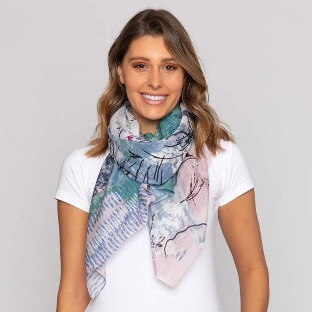 CONFORMITY silk-cotton scarf