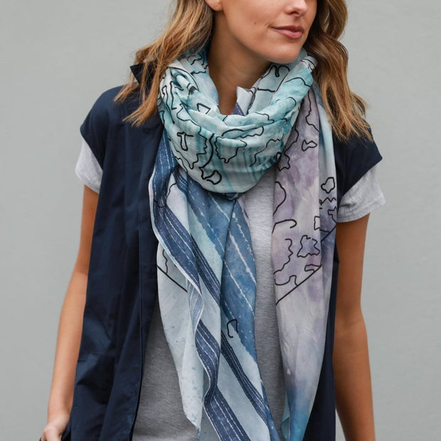 SALT silk-cotton scarf
