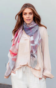 JOY silk-cotton scarf