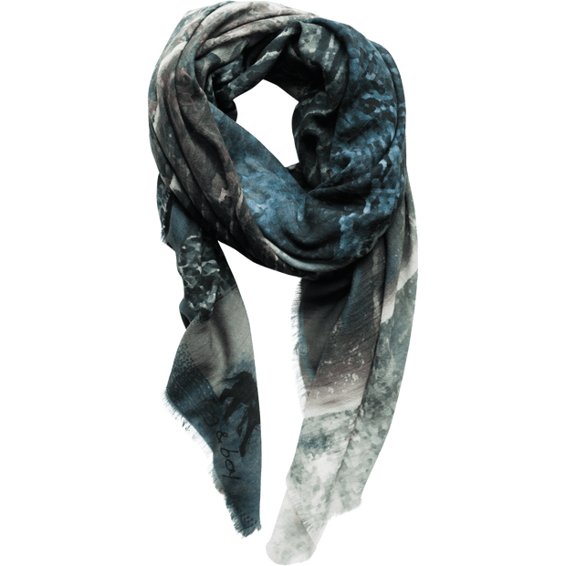 charcoal wool scarf
