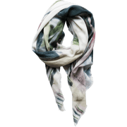 white wool scarf