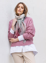Merino wool scarf in pink, green, navy. Designed in Melbourne Australia. Perfect winter gift