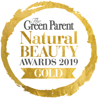 Winner of Gold Award Green Parent Magazine Natural Beauty Awards 2019