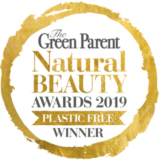 Winner of Plastic Free Award Green Parent Magazine Natural Beauty Awards 2019