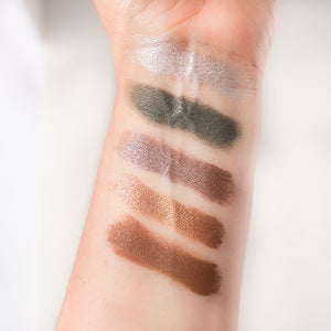 Eyeshadows test on arm