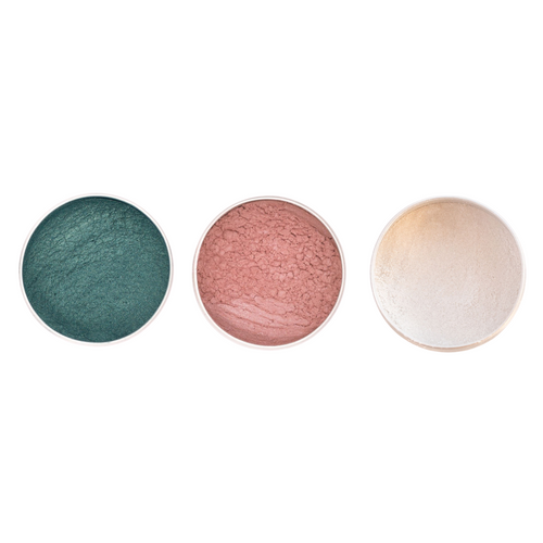 Vegan Mineral Eyeshadow Trio - Mermaid Vibes