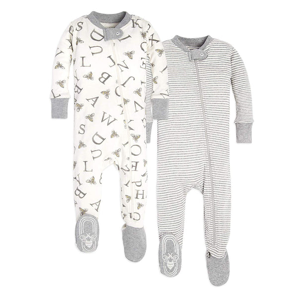 02795313c816 Unisex Baby Sleeper Pajamas Zip Front Non-Slip Footed Sleeper 100 ...