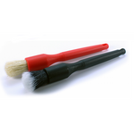 Detail Factory Boar and Synthetic Crevice Brush Set (Red/Black)