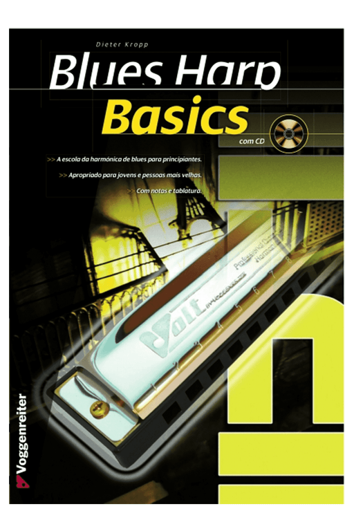Livro Blues Harp Basics (PT) - Oferta CD