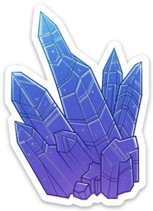 Crystal Cluster Sticker