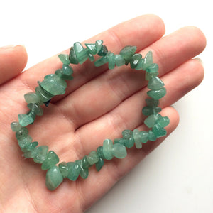 Aventurine green gemstone chip bracelet