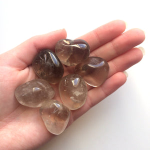Smoky quartz tumbled stone natural gemstone 20mm-30mm