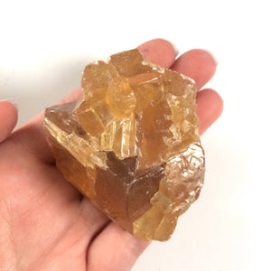 Golden honey calcite raw natural one stone 1-1.5""