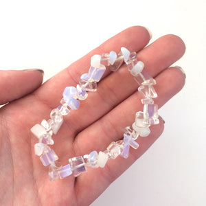 Opalite gemstone chip bracelet