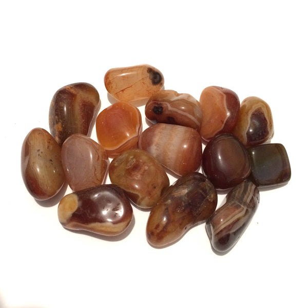 Sardonyx red agate tumbled stones smooth palm stone 25mm