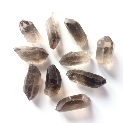 Smoky quartz point natural crystal