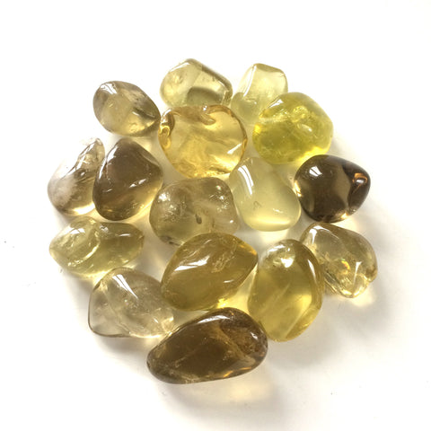 Lemon Quartz tumbled stone natural stone 20mm