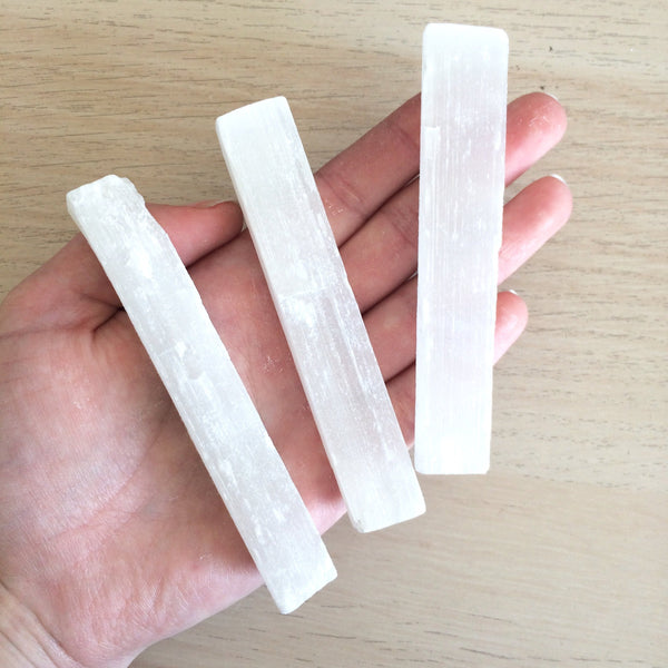 Selenite stick wand meduim 10cm long for cleansing the aura