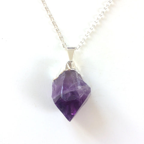 Amethyst pendant comes with chain necklace