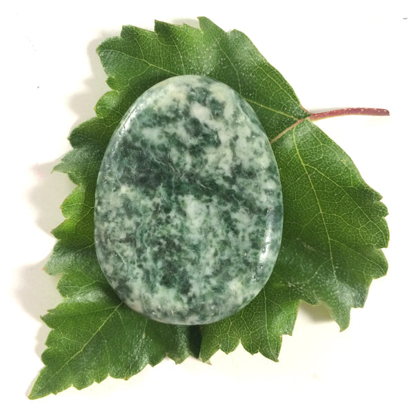 Green Dragon stone palm thumb smoothstone worry stone