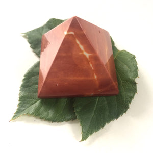 Mookaite Red pyramid polished point 35mm