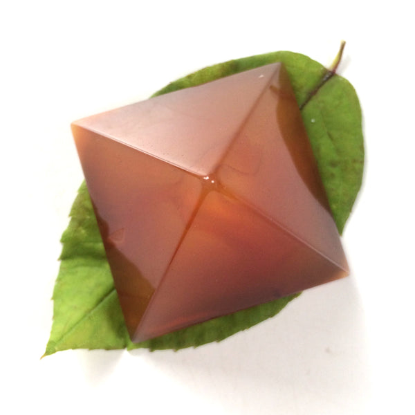 Carnelian Orange pyramid polished point 35mm