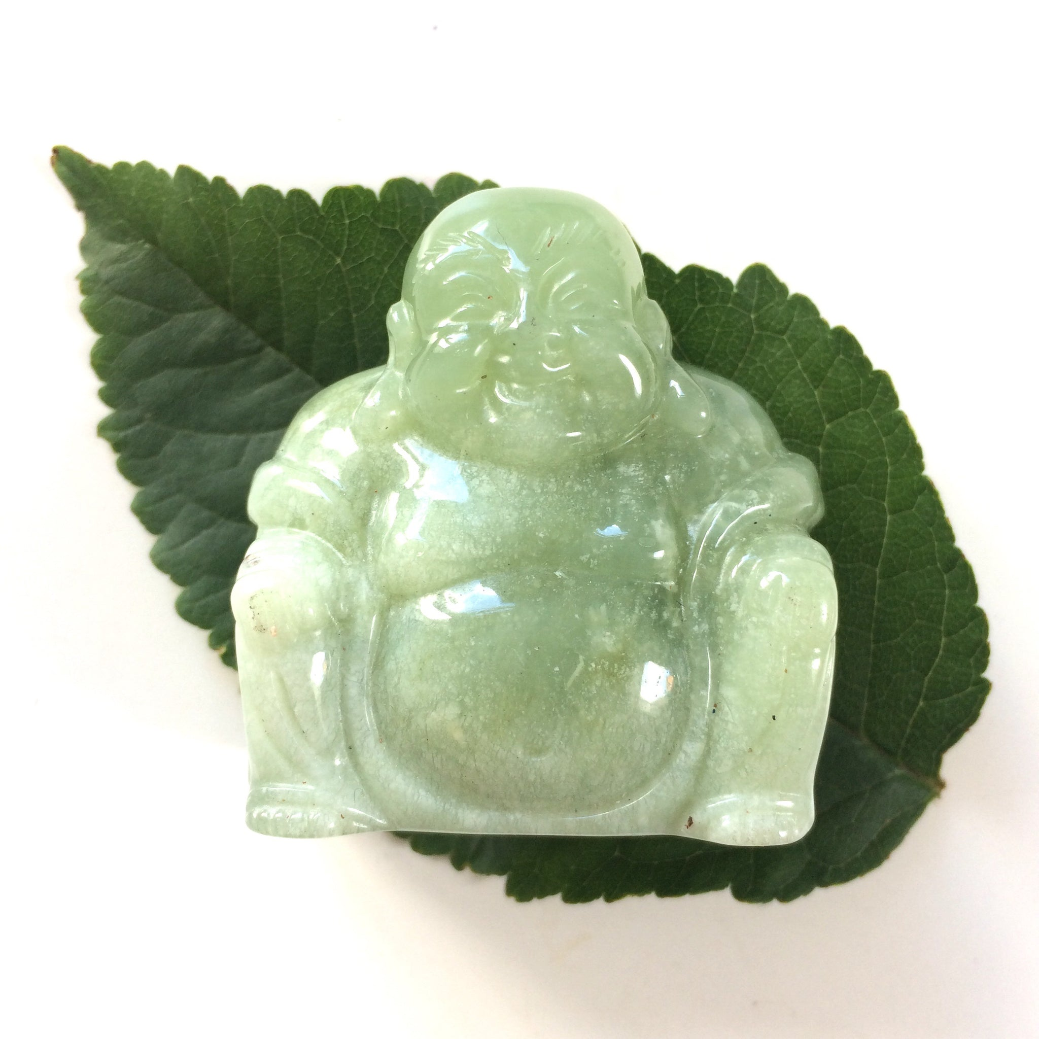 New jade serpentine buddha carving medium
