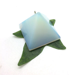 Opalite blue pyramid polished point 35mm
