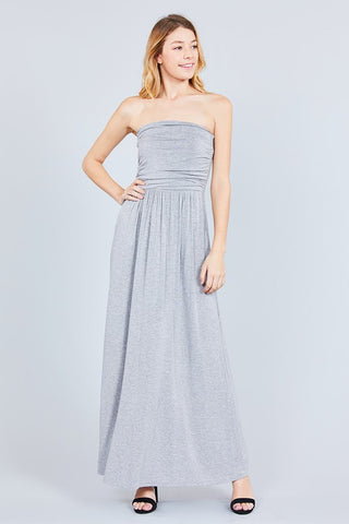 Rayon Modal Spandex Tube Top Maxi Dress - myfoxyfarmdesigns.com
